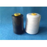 Quality Waxed 40/2 3000Y 100% core spun polyester sewing thread with black / white color wholesale