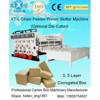 Quality Corrugated Carton Making Machine / Manufacturing Machinery With Chain Feeder wholesale