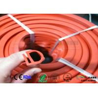 Quality orange color E section silicone seal for oven,E shape  silicone strips wholesale
