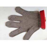 Quality Reversible Safety Level 5 Stainless Steel Gloves With Textile Strap Silver Color wholesale