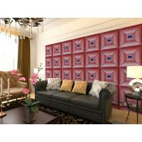Quality Parlour Decorative Leather Textured 3D Wall Panel Embossed Indoor Wall Decals wholesale