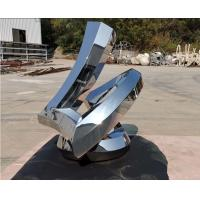 Buy cheap Mirror Surface Modern Outdoor Metal Sculpture Stainless Steel For Public from wholesalers