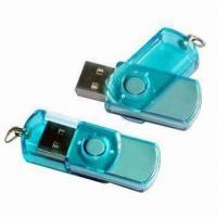 China Transparent Swivel USB Keys with Password Protection, Transparent USB Flash Drive  on sale