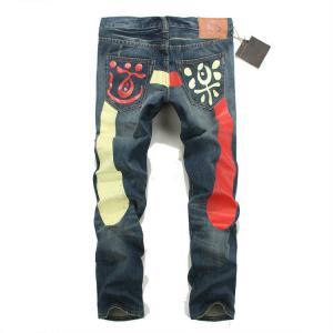 Quality Wholesale new 2014 E-VISU colorful big M hole national fashionable style men's jeans wholesale