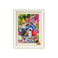 Quality 30x40cm 5D Pictures With Plastic White Frame For Office Decoration wholesale