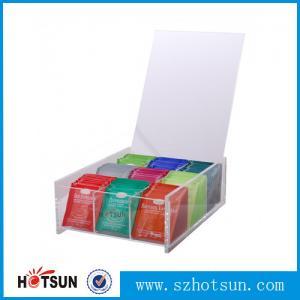 Cheap First class decor custom design tabletop clear acrylic tea box for sale