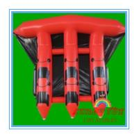 Quality Red 0.9mm PVC Inflatable Boat For Sea , Adult Inflatable Fly Fishing Boats(CY-M2728) wholesale