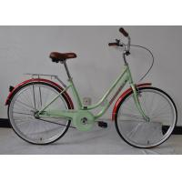 Quality CE standard hi-ten steel  26 inch elegant city bike for lady  with single speed with basket wholesale
