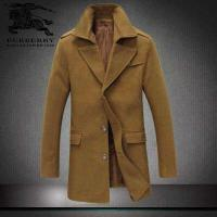 Quality High-grade woolen cloth designer classic contracted vertical cutting long winter mens coat wholesale