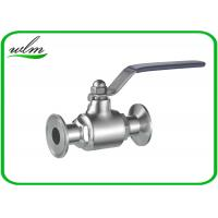 Quality Durable Clamp Sanitary Ball Valves For Hygienic Industry Pipe System wholesale