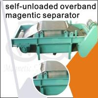 Quality Over Belt Self Cleaning Overband Magnetic Separator / Cross Belt Magnetic Separator wholesale