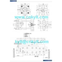 160T aluminum alloy die casting machine die platen drawing die fitting drawing mounting foundation base drawing