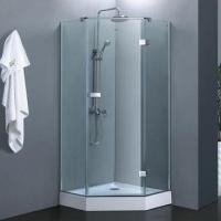 China Diamond frameless hinge door shower enclosure/shower cabin with metal fitting on sale