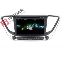 Quality Multi Touch Screen Android Car Navigation System DVD GPS For Hyundai Verna / Solaris 2017 wholesale