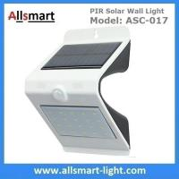 Quality NEW 24LED Triangle PIR Solar Sensor Motion Wall Light Fixture White Lampshade Warm White Back LED Outdoor Wall Mounted wholesale