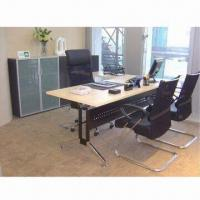 Quality Melamine L Shape Desk with Side Table and Steel Modesty, Available in Various Sizes wholesale