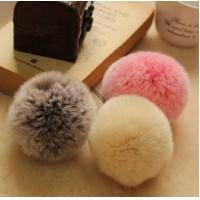 Quality 2015 Cute Wholesale Hat Accessory 5-11cm Rabbit Natural Or Colorful Pom Pom Fur Ball wholesale