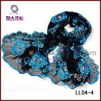 Quality Charming Embroidery Lace Scarf (LL04-4) wholesale