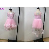 Quality Summer Pink Frock Childrens Flower Girl Dresses For Wedding Party Multi Color Optional wholesale