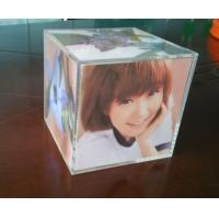 Quality Clear perspex photo frame acrylic cube photo displays enviromental wholesale