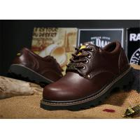 China Non Slip Rubber Sole Work Safety Shoes Cowhide Leather Work Boots For Men / Women on sale