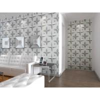 Cheap Wall Hanging 3D Living Room  Wallpaper , Fabric Wall 3d Wall Panel Sound-absorbing for sale