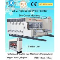 Quality Corrugated Box Flexo Printer 2200mm with Slotter and Die Cutter Unit 100 Pcs / Min wholesale