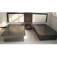 Buy cheap Black Hotel Style Bedroom Furniture , Inn Furniture Double Beds With Headboard product