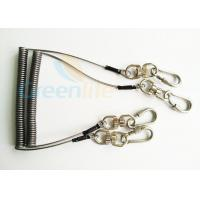 Quality Steel Spring Coil Tool Lanyard With 8 Shape Swivel / Stainless Carabiner wholesale