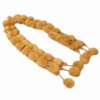 China 100% Real Rabbit Fur Scarf, Various Colors and Designs are Available on sale