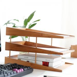 Quality office school bamboo desk organizer wholesale