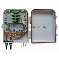 Quality Wall / Pole Mount Fiber Optic Termination Box 16 Core With PLC Splitter Steel Tube wholesale