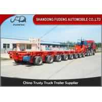 China Hydraulic Modular Heavy Equipment Trailers 100 - 120 Tons Payload Multi Axles on sale