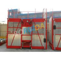 Quality 60m Single Cage Construction Material Hoist , Steel Galvanized Material wholesale