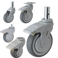 Quality medical devices caster wheel,hospital bed caster wholesale