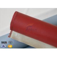 Quality 1000 Degrees Red Coating High Silica Fabric Thin Fiberglass Cloth 700gsm wholesale