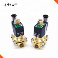 Quality N/O 1 Inch Brass High Temperature Solenoid Valve Polit Type For Water Gas Oil wholesale