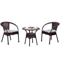 Quality SGS Approval 44cm Width Rattan Wicker Coffee Table Comfortable wholesale