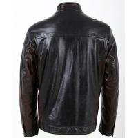 Quality Black / Dark Red / Coffee, Size 54, No Buttons Fleece Lined PU Leather Jacket for Men wholesale