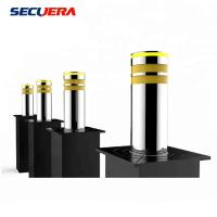 China Automatic Rising Electric Hydraulic Stainless Steel Bollards with LED Light on sale