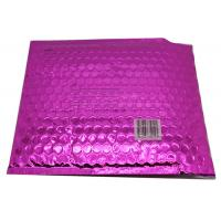Quality Waterproof Pink Metallic Bubble Mailers Large Volume Puncture Resistant wholesale