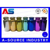 China Colorful Small Glass Vials Bottles Embossed , 10ml Glass Dropper Bottles on sale