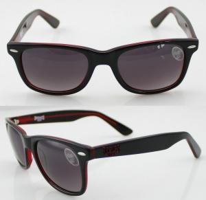 Cheap Unisex Orange Sport Acetate Frame Sunglasses , Wayfarer Sunglasses for sale