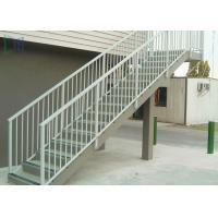Metal stair handrails best metal stair handrails for Exterior wall mounted handrails for stairs