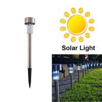 Quality White Stainless Steel Waterproof LED Solar Path Light for Garden wholesale