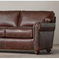 Cheap High End Living Room With Brown Leather Sofa , Room