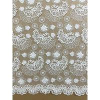 hot sale fashion embroidery lace fabric for wedding dress