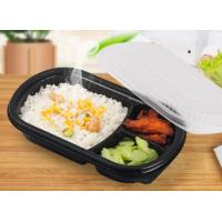 Quality 900ml Plastic PP Food Trays 3 Compartments Rectangular Oval Shape Design wholesale