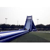 China Blue Durable Adult Giant Inflatable Slide Satety Large Blow Up Water Slides on sale