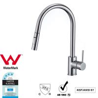 Quality Cupc Lead Free Brass Sink Pull out Mixer Tap 360 Swivel No Corrosion wholesale